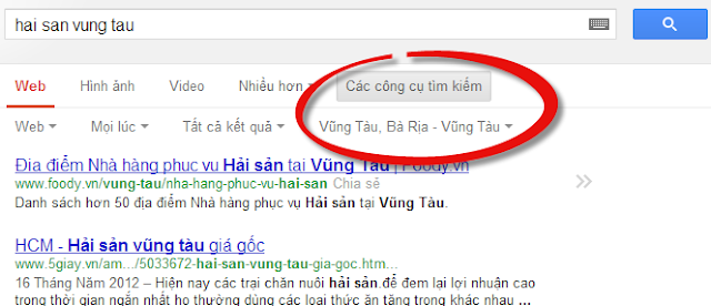 Đây là ví dụ cho SEO Local trên Google Place