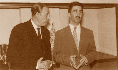Los ajedrecistas Juan Manuel Fuentes González y Ricardo Lamarca Barrios