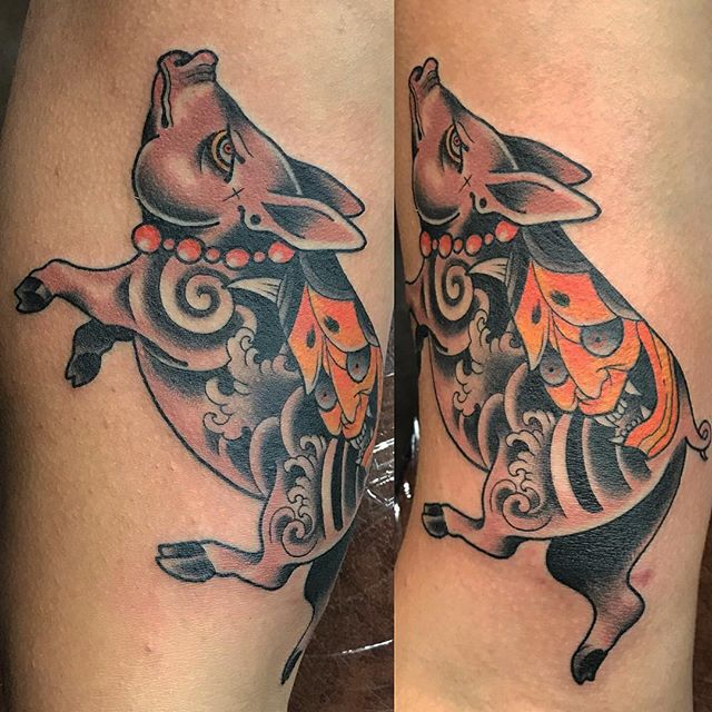 pig tattoo