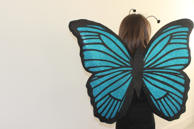 disfraz casero infantil de mariposa