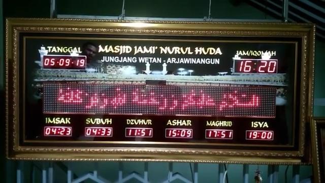 Langkah Memilah Jam Digital Masjid, Jam Masjid