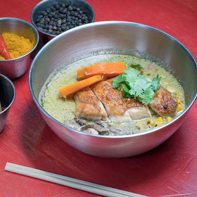 Curry verde de pollo con batata, Kitchen 154