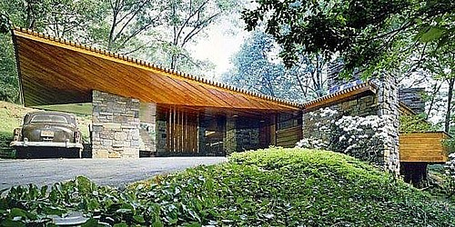 Art now and then wright 39 s usonian houses for Frank lloyd wright usonian home plans