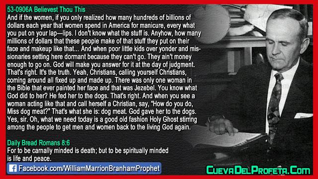 Miss dog meat - William Branham Quotes