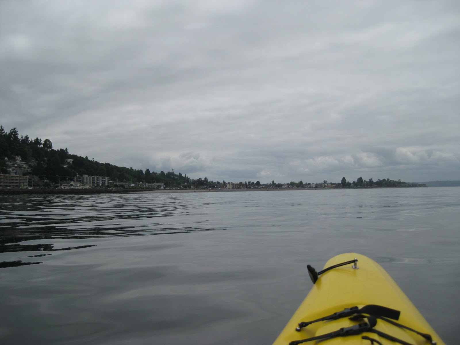 The View From Kayak Along Alki Beach