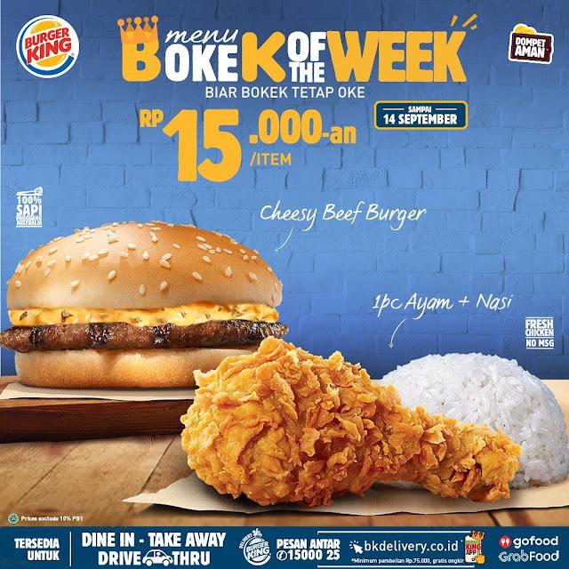 Promo Burger King Menu BOKEK OF THE WEEK Periode 8 - 14 September 2020