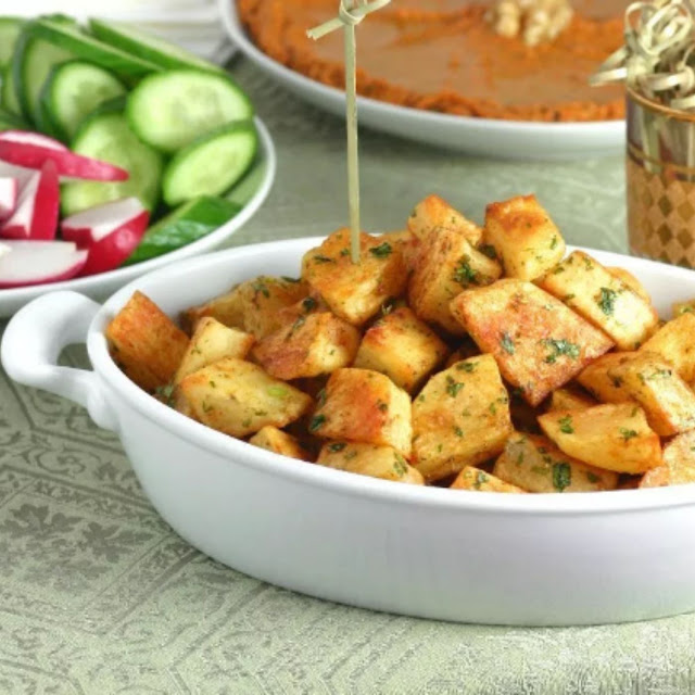 SPICY LEBANESE-STYLE POTATOES (BATATA HARRA)