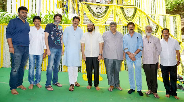 Pawan Kalyan Trivikram New movie Launch pics
