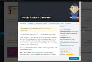 Plugins para crear tu favicon: Heroic Favicon Generator