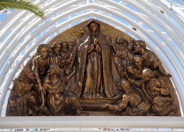 Así es el segundo altorrelieve de Navarro Arteaga para la catedral efímera de Almonte