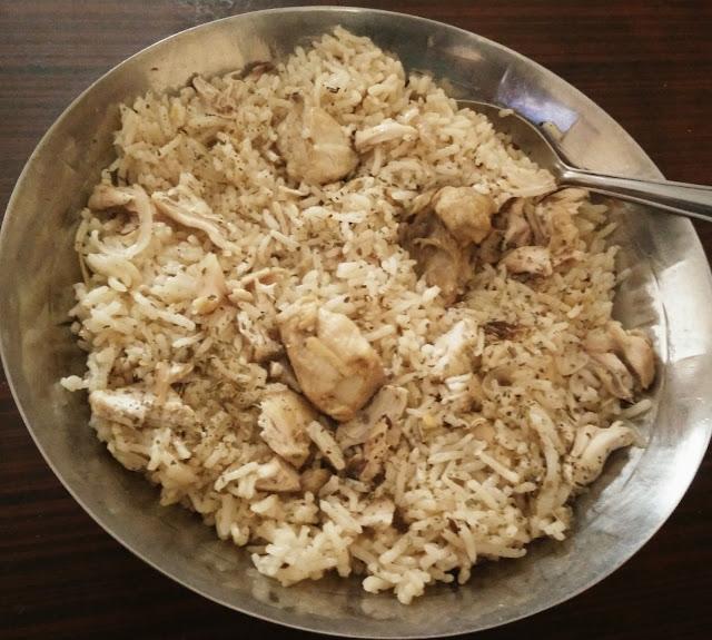 Chicken Pulao : Mildly Spiced Chicken Rice