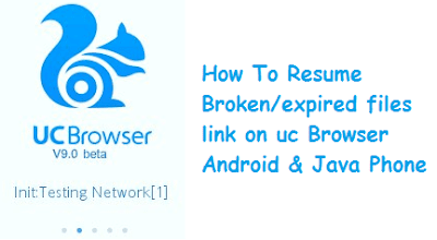 How to Resume Broken Download Links On UC Browser