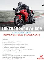 Bursa Kerja Surabaya di Anugerah Wangi (Bengkel Honda) Pamekasan Oktober 2020