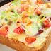 بيتزا خفيفة بشرائح التوست المحمص