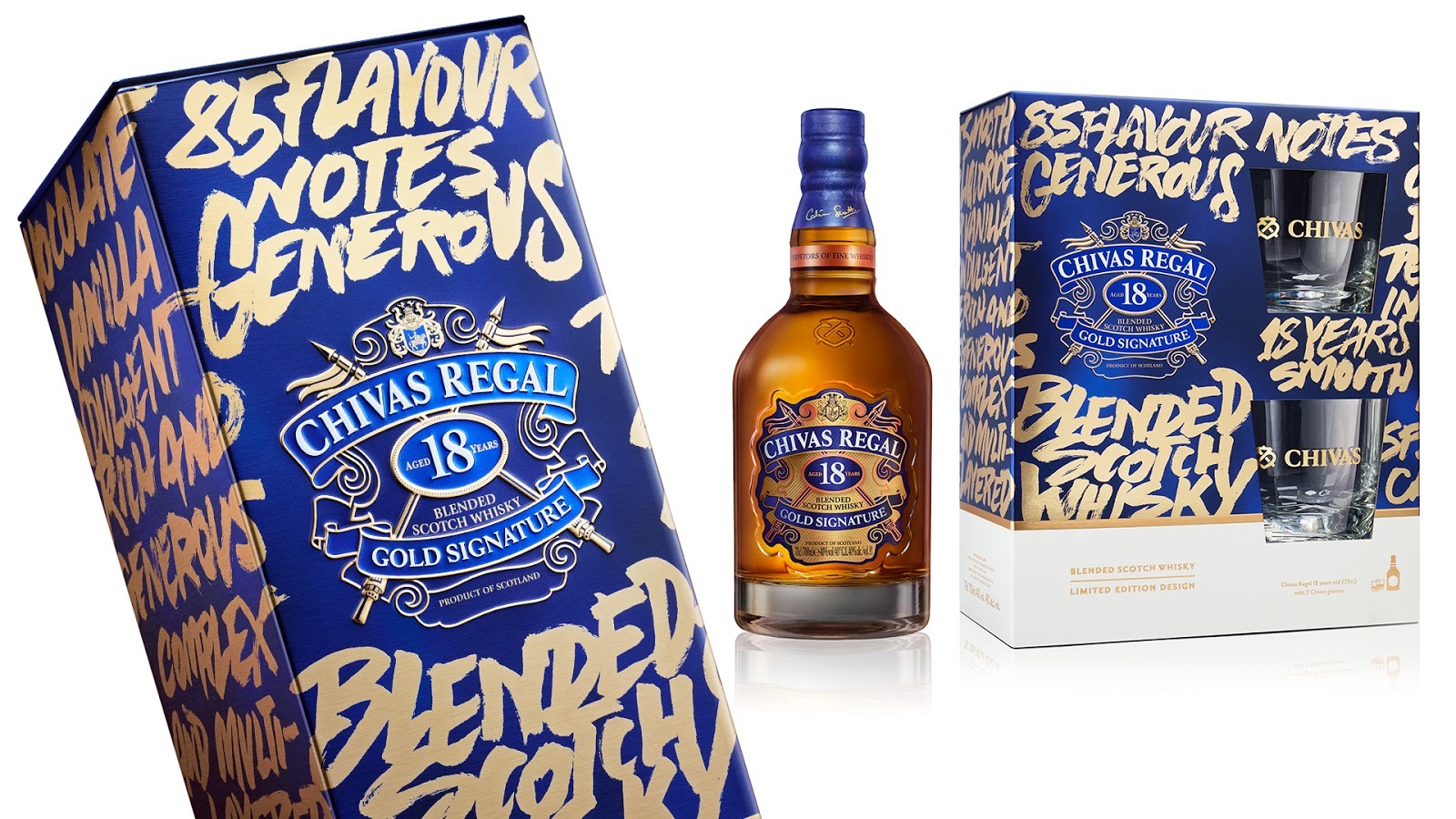 Chivas Regal Limited Edition Blended Scotch Whisky Gift