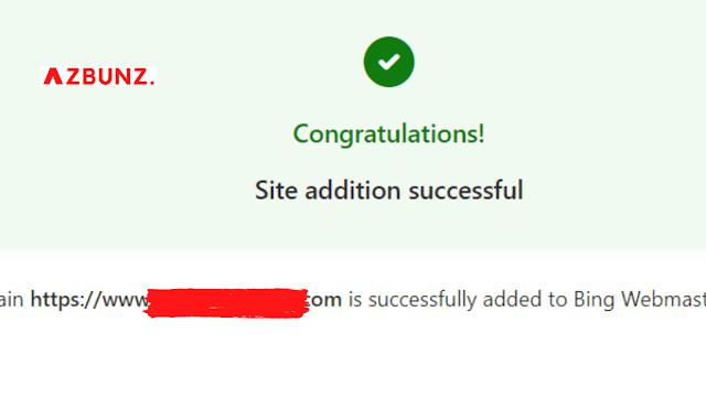 Berhasil verifikasi blog ke Bing Webmaster