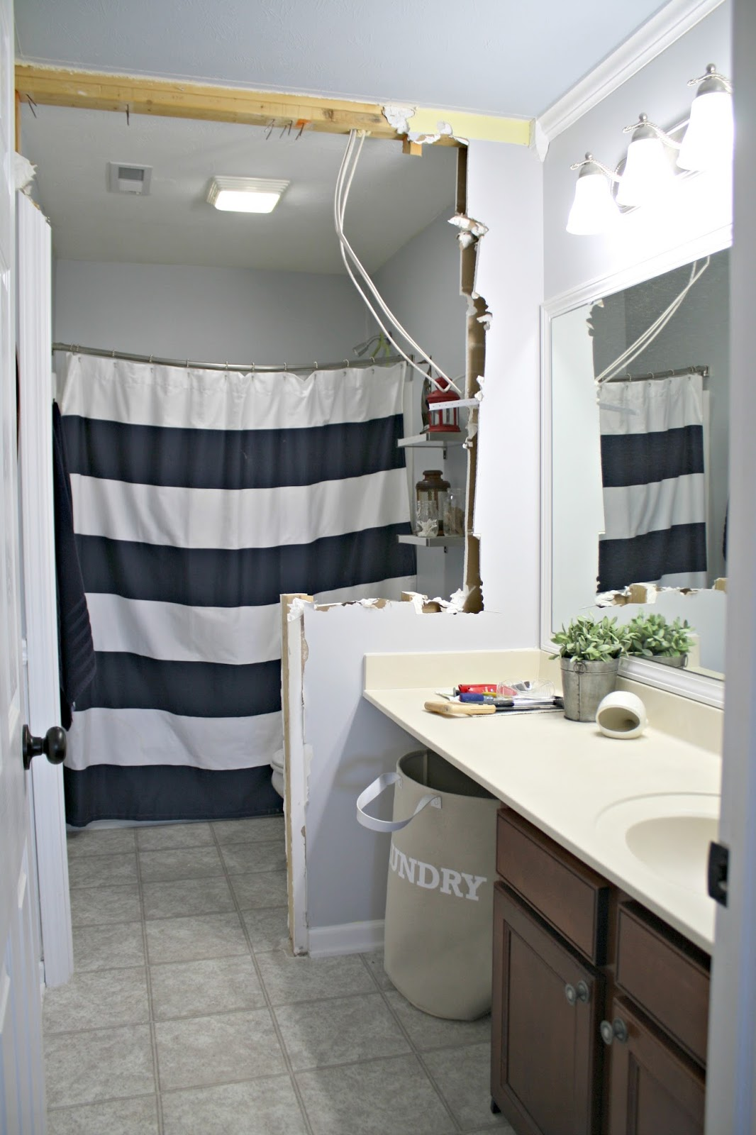 The Bathroom Renovation Has Started From Thrifty Decor Chick
