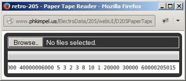 205 Paper Tape Reader