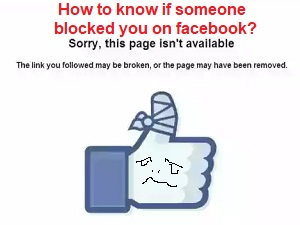 If someone blocked you on facebook