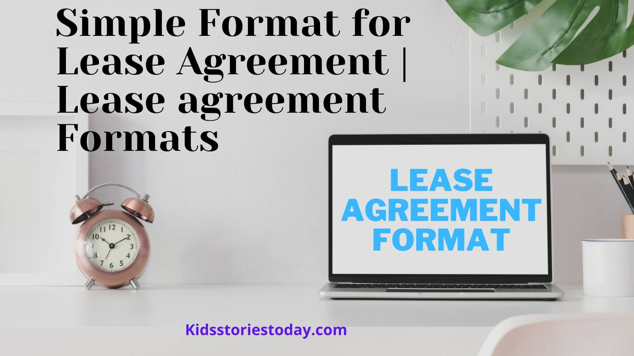 Simple Format for Lease Agreement _ Lease agreement Formats