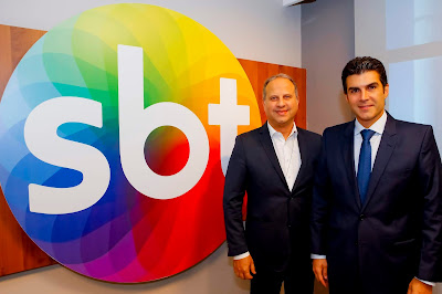 O CEO José Roberto Maciel e o Governador Hélder Barbalho (Crédito: Gabriel Cardoso/SBT)