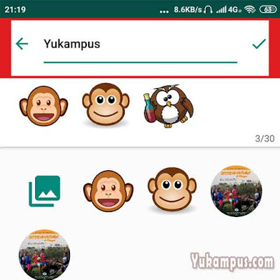 personal sticker for whatsapp tambah