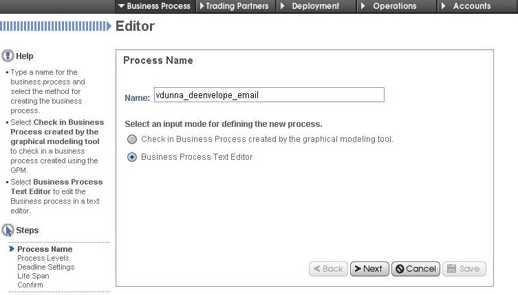 How to deploy the business process in SI