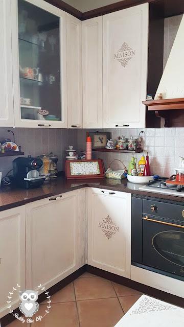 cucina, shabby chic, decora facile, chalk paint, prima e dopo, casa facile, arredamento