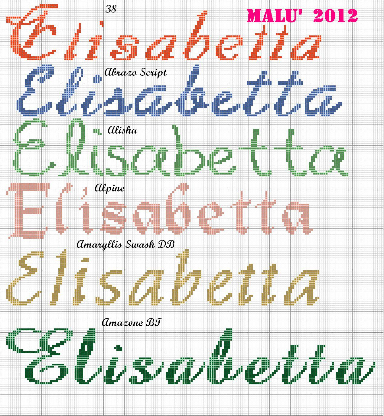 Bien connu Lettere Disney Punto Croce. Finest Lettere Alfabeto Con Farfalle A  QL37