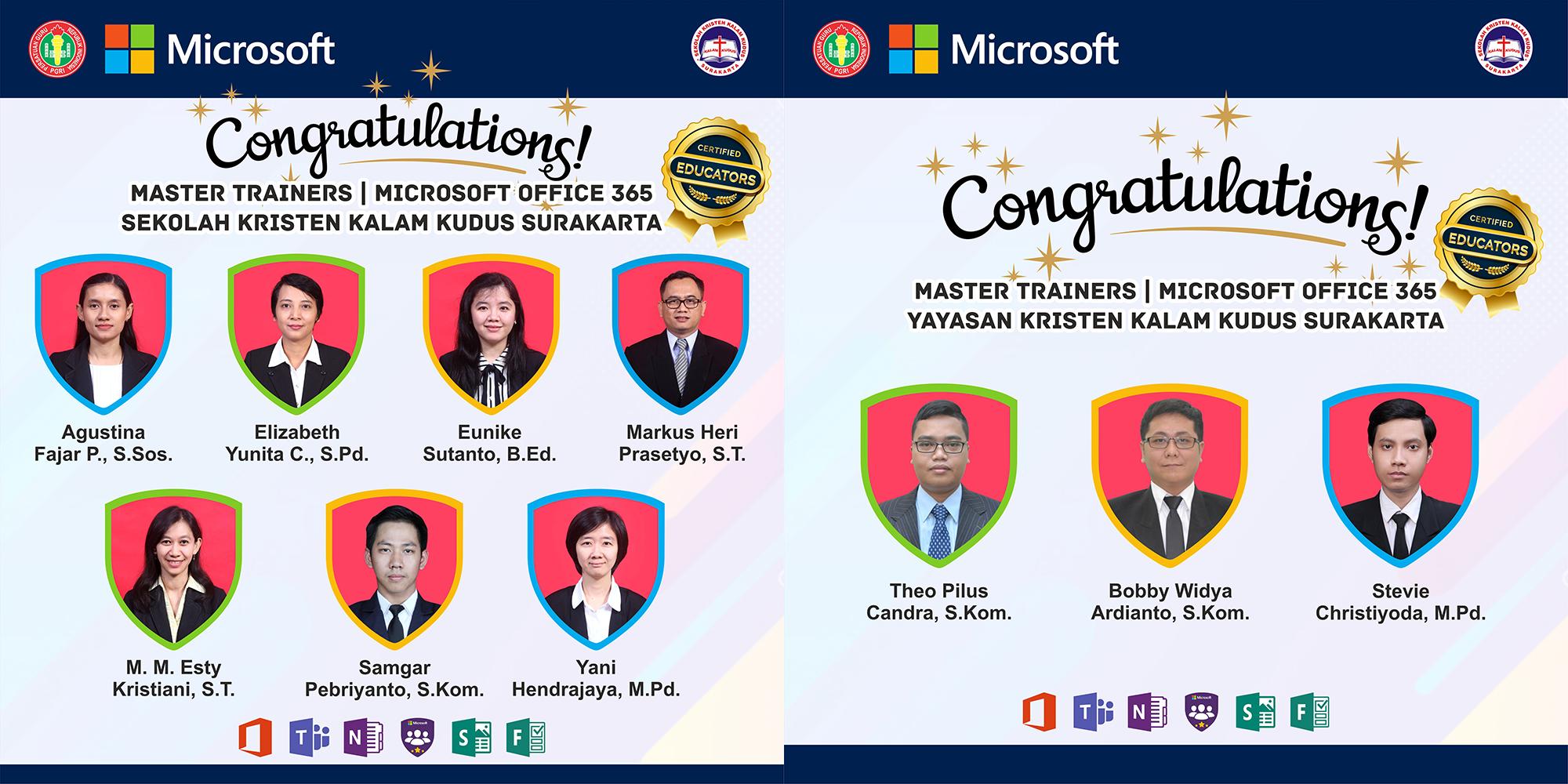Selamat Guru IP & Staff IT Telah Menyelesaikan Pelatihan Microsoft Office 365
