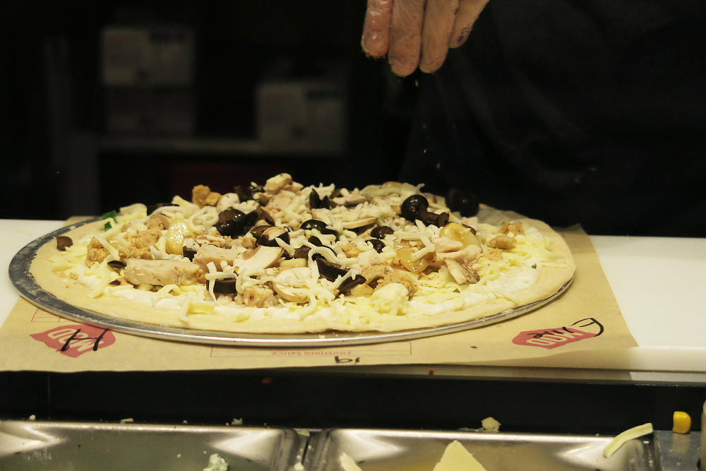 Pizza being made at MOD Pizza Leeds