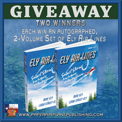 Ely Air Lines tour giveaway graphic. Prizes to be awarded precede this image in the post text.