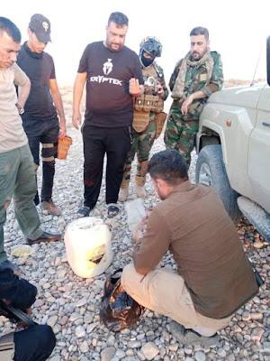 مكافحة المتفجرات باللواء 52 تعالج عبوة ناسفة معدة للتفجير شرق صلاح الدين