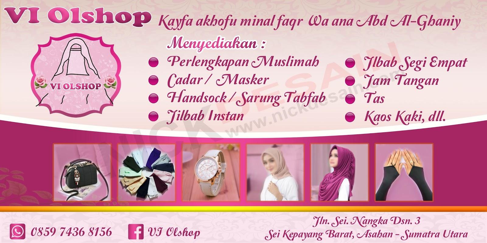 Contoh Desain banner Spanduk Olshop Pink - Percetakan Tanjungbalai