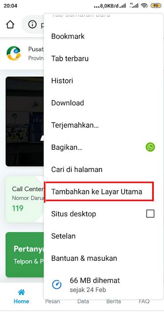 Install aplikasi web pikobar