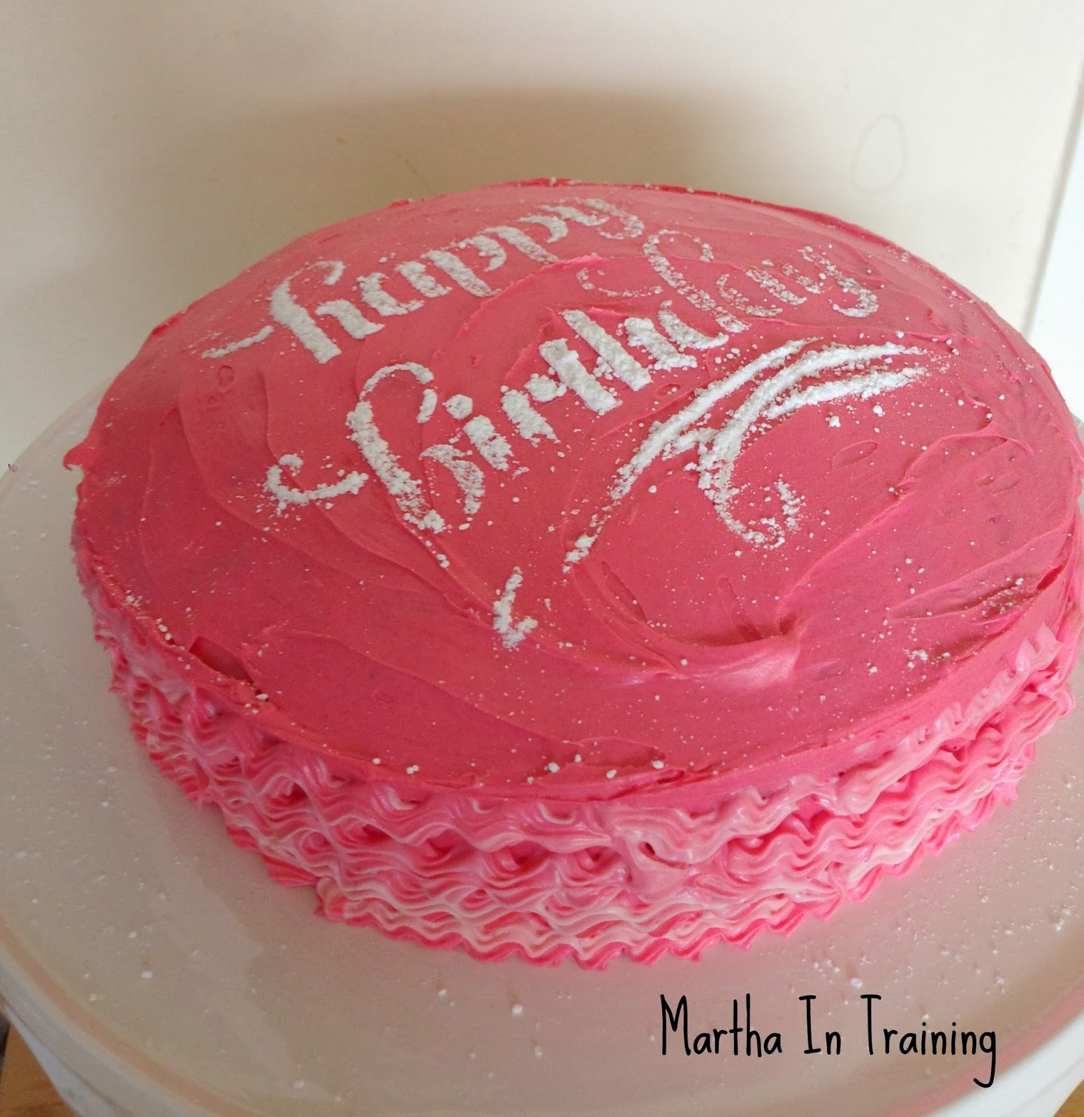 The Theme Of Party Was Paris So We Colour Coordinated Things White Black Pink On Carrot Cake I Stencilled Happy Birthday