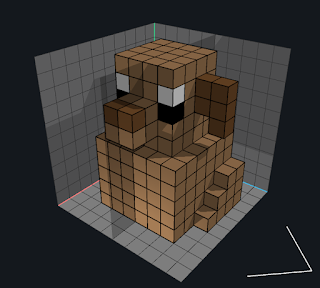 Using the Add Voxels mode while in Mirror mode