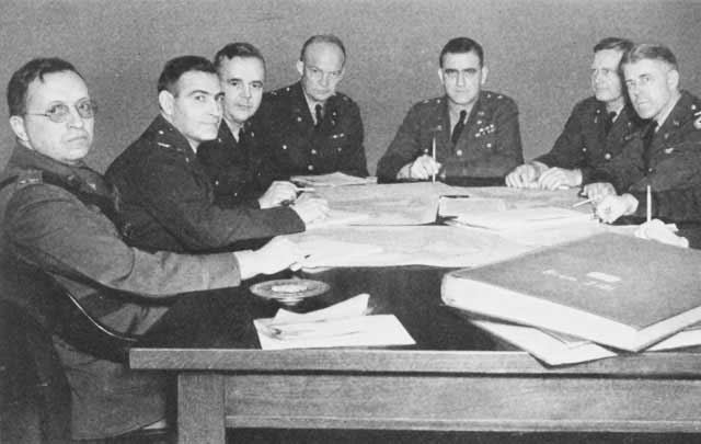 Dwight Eisenhower with War Plans Division, 23 January 1942 worldwartwo.filminspector.com
