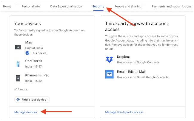 security pada akun gmail