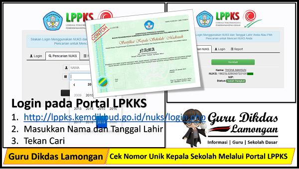 Cek Nomor Unik Kepala Sekolah Melalui Portal LPPKS