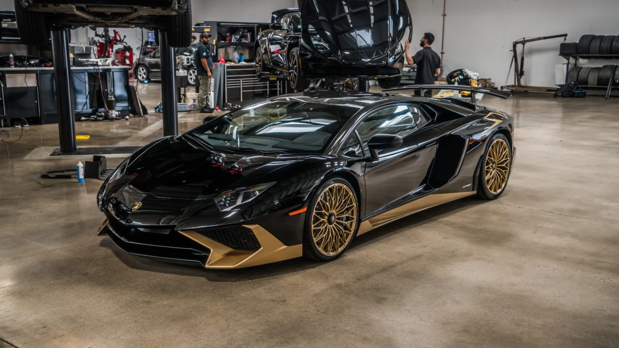 black and gold lamborghini aventador s is one of the last