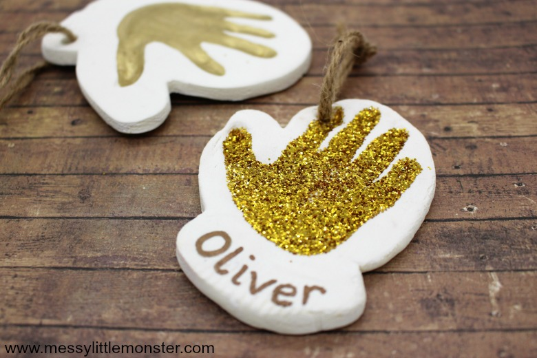 Clay Baby Handprint Ornament. The cutest handprint keepsake!