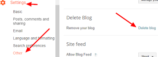 how to delete and restore a blog on blogger
