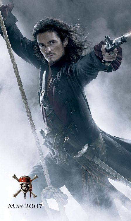Orlando Bloom Pirates of the Caribbean 3 poster