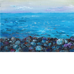 "LAWRENCETOWN BEACH- 5""X7"" ART CARD"
