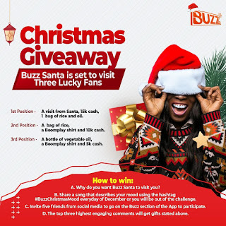 Boom Nigeria Introduces Christmas Giveaway For Three Lucky Fans with Amazing Prizes