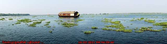 Kerala vembanad lake houseboat