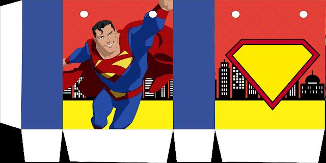 Cajas de Superman Comic para imprimir gratis.