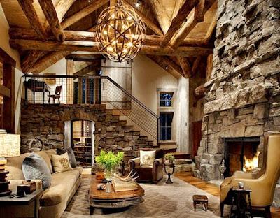 8 Ide Mendekorasi Ruang Keluarga Dengan Atap Yang Tinggi ! - Loteng Terbuka