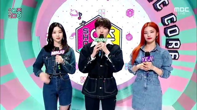Knetz talks about the combination visual of the Music Core MC with ITZY Yeji.